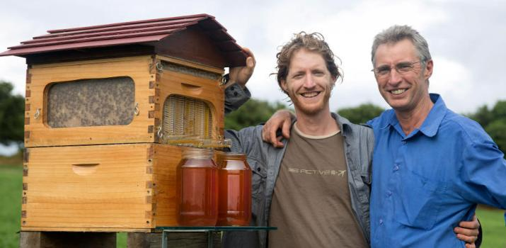 Stuart and Cedar Anderson's Flow hive promises to revolutionize beekeeping. Credit: beefarm.ru
