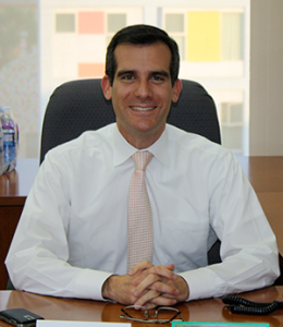 Los Angeles Mayor Eric Garcetti has spearheaded a new sustainability plan for his city. (photo courtesy Wikimedia Commons)