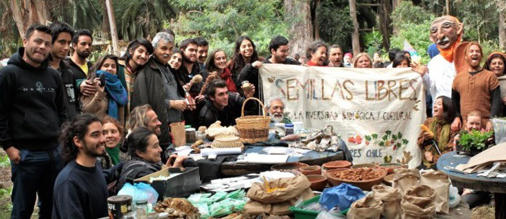 Exchange of seeds in the 5th Region. © Red Semillas Libres Chile