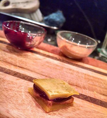 "Noah's peanut butter and jelly ""sandwich."" Courtesy Noah Kopf."