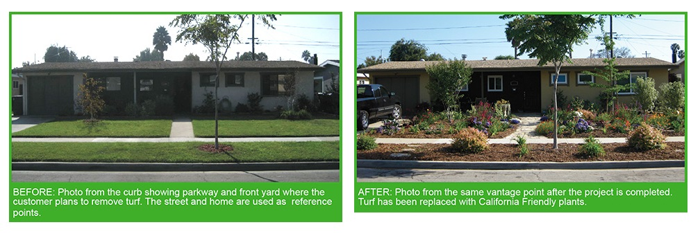 Before and after pictures showing a transformation (Photo Credit: SoCal Water$mart)