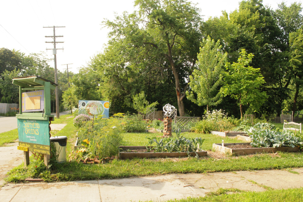Urban farm in East Detroit (Photo Credit: Liz Patek)