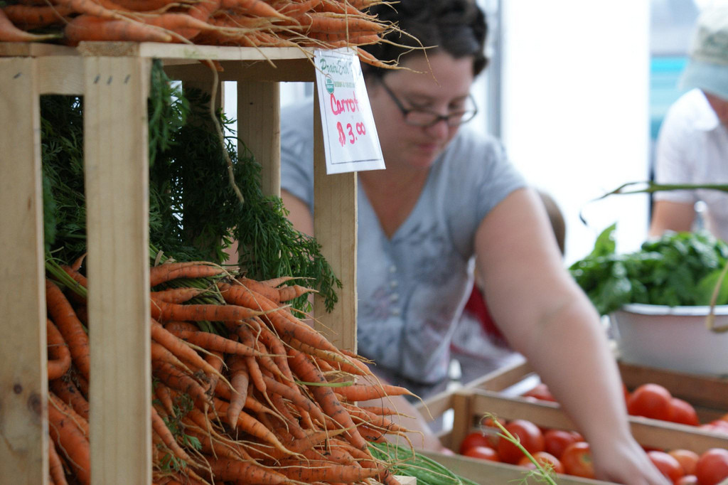 Farmers markets are important for access to healthy food and are a great revenue stream to keep local farmers in business. (Photo Credit: Gemma Billings)